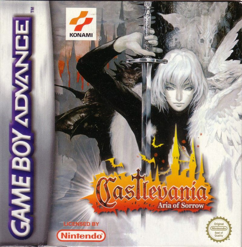 Castlevania: Aria of Sorrow Game Boy Advance Front Cover