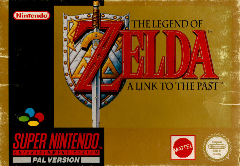 The Legend of Zelda: A Link to the Past SNES Front Cover