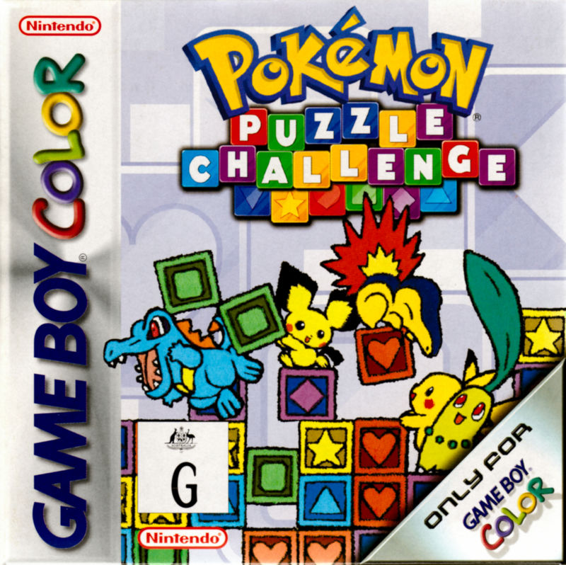 Pokémon Puzzle Challenge (2000) Game Boy Color box cover ...