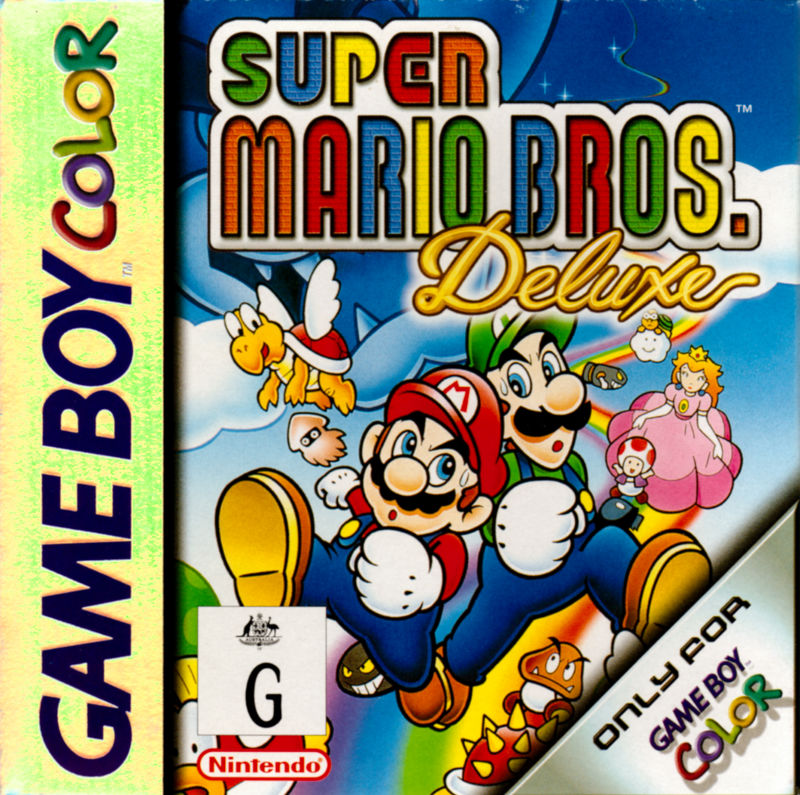 Super Mario Bros. Deluxe Game Boy Color Front Cover