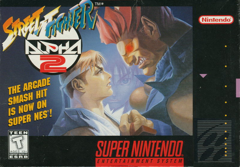 Street Fighter Alpha 2 SNES Front Cover