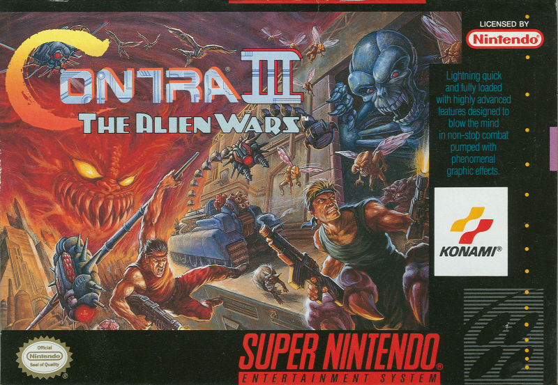 Contra III: The Alien Wars SNES Front Cover