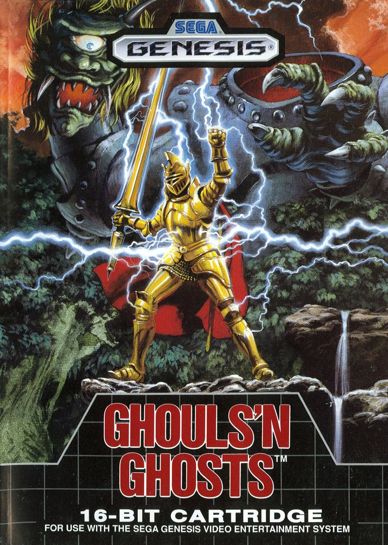 Ghouls 'N Ghosts Genesis Front Cover
