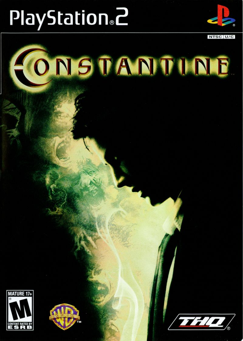 Constantine PlayStation 2 Front Cover
