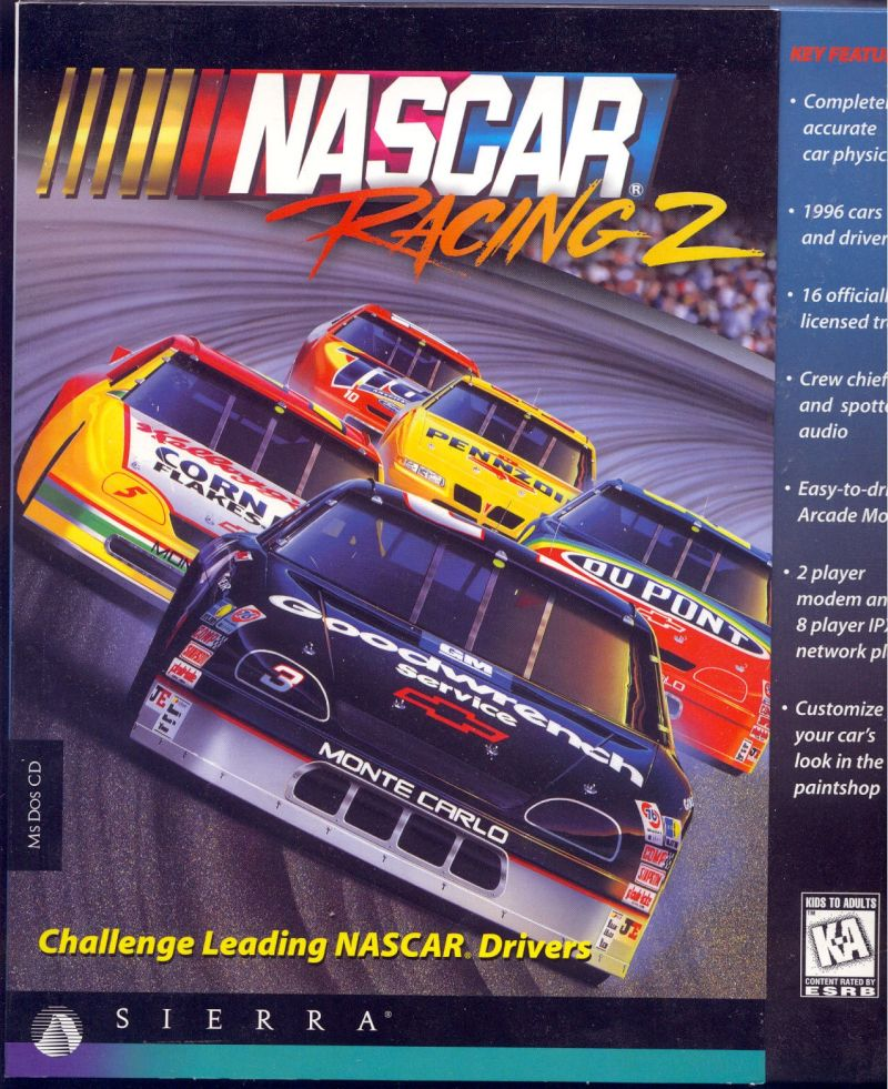 NASCAR Racing 2 DOS Front Cover