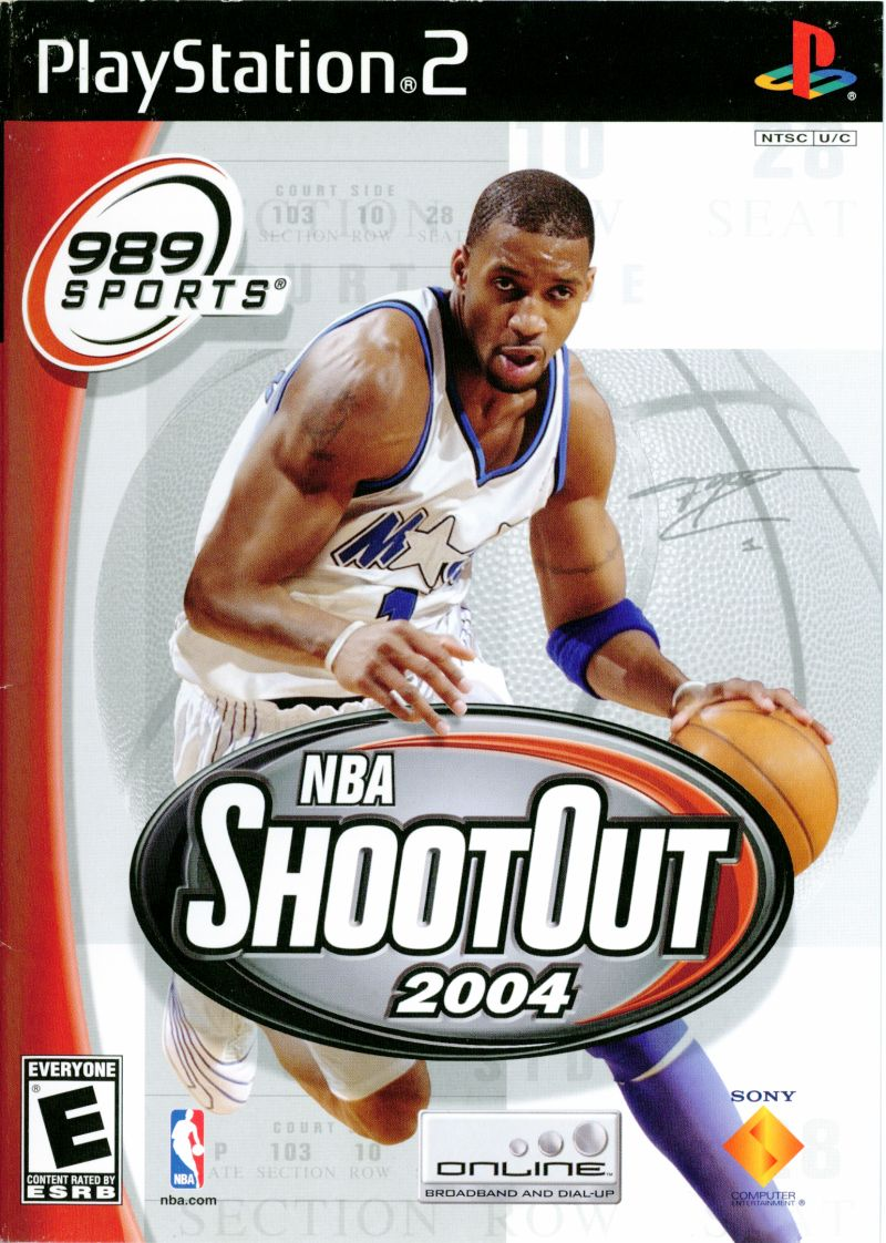 NBA Shootout 2004 PlayStation 2 Front Cover