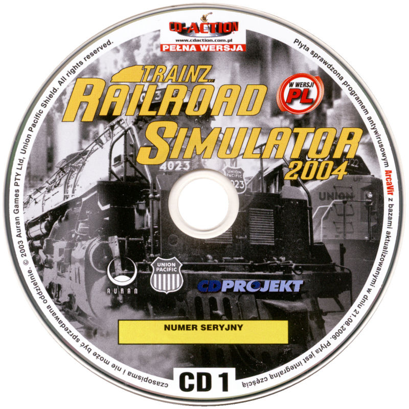 Trainz Railroad Simulator 2004 Windows Media Disc 1/2