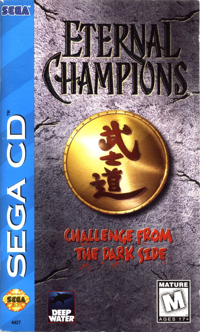 best SEGA CD games - eternal champions challenge from the dark side game case