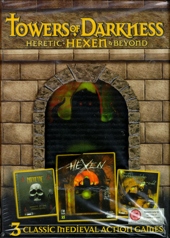 Towers of Darkness: Heretic, Hexen & Beyond DOS Front Cover