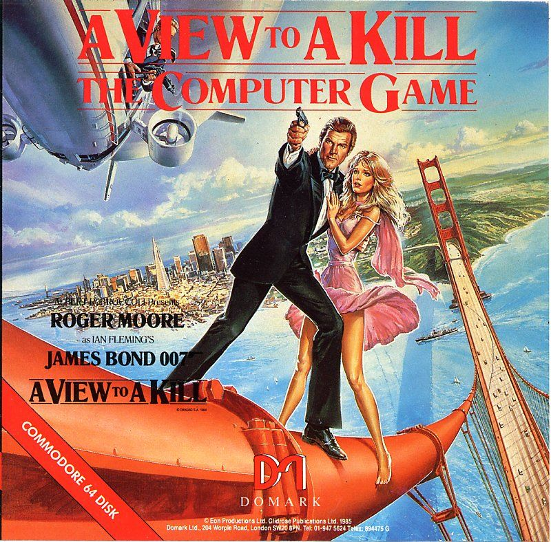 A View to a Kill: The Computer Game Commodore 64 Front Cover