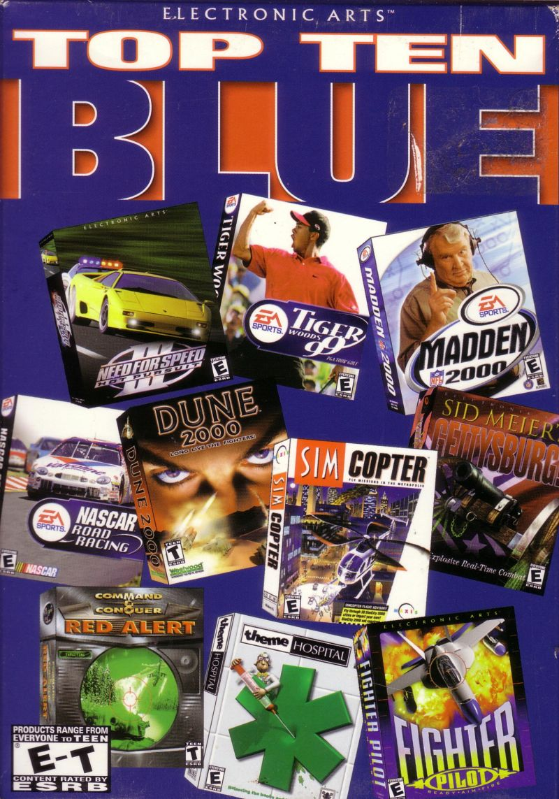 Electronic Arts Top Ten - Blue Windows Front Cover