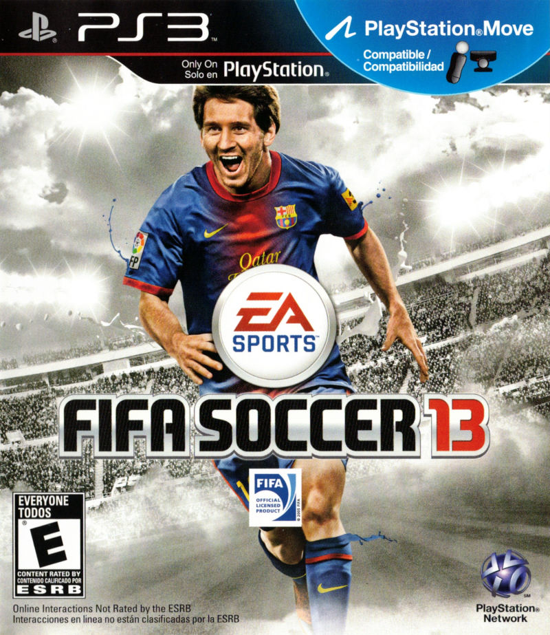 FIFA Soccer 13 PlayStation 3 Front Cover