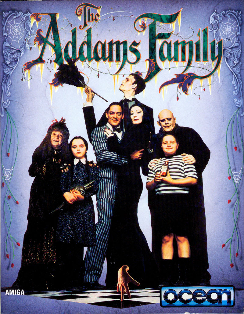 The Addams Family Amiga Front Cover