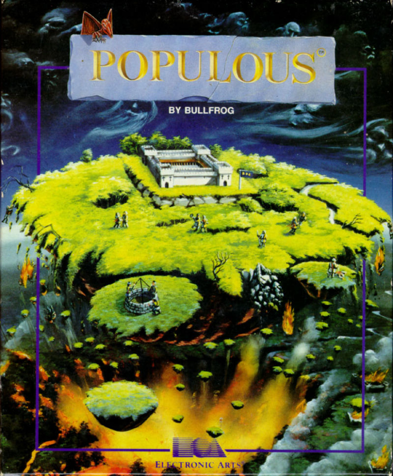 Populous Amiga Front Cover