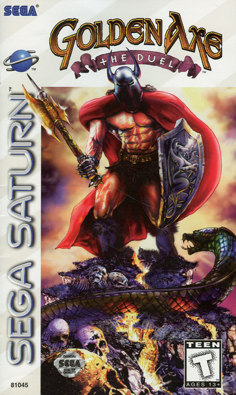 Golden Axe: The Duel SEGA Saturn Front Cover