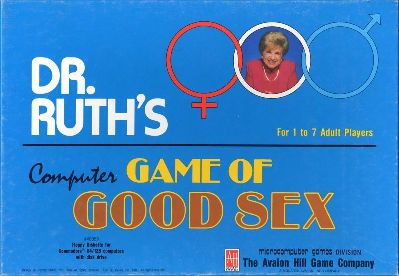 Dr. Ruth's Computer Game of Good Sex Commodore 64 Front Cover