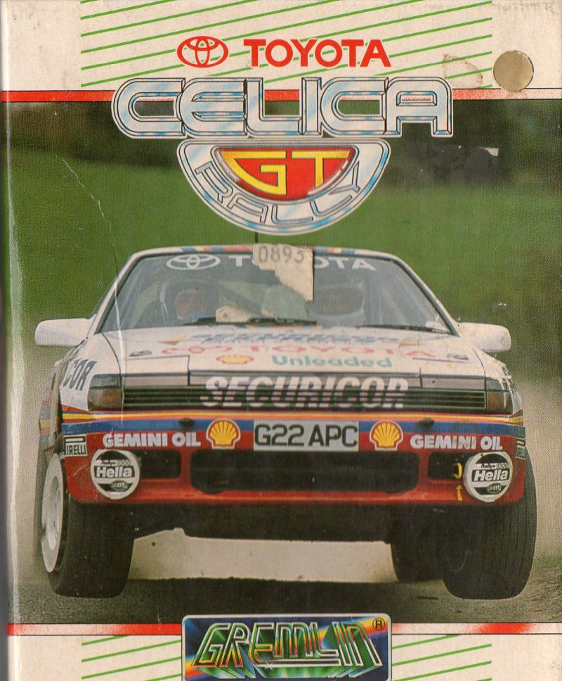 Toyota Celica GT Rally Amstrad CPC Front Cover
