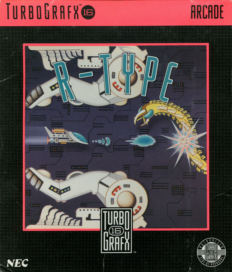 R-Type TurboGrafx-16 Front Cover