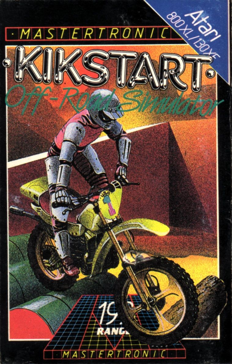 Kikstart: Off-Road Simulator Atari 8-bit Front Cover