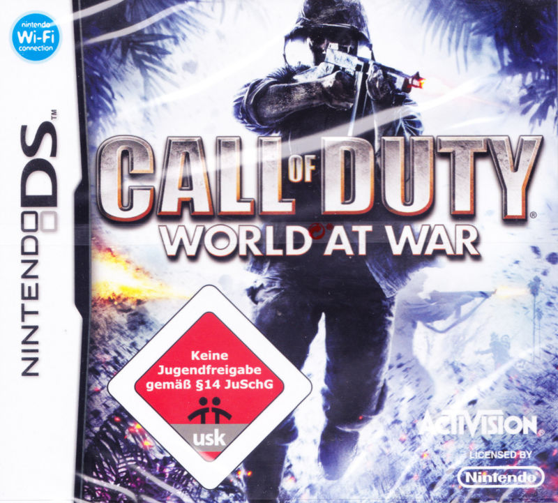 Call of Duty: World at War (2008) Nintendo DS box cover ...