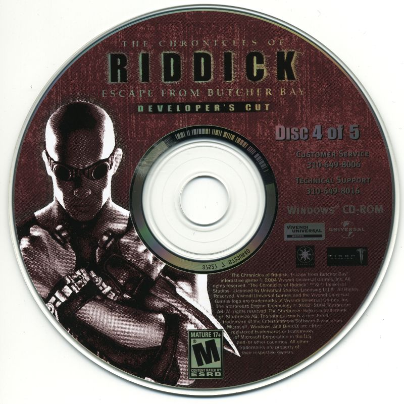 The Chronicles of Riddick: Escape from Butcher Bay Windows Media Disc 4