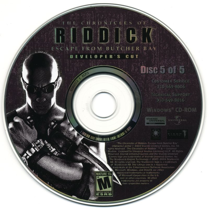 The Chronicles of Riddick: Escape from Butcher Bay Windows Media Disc 5