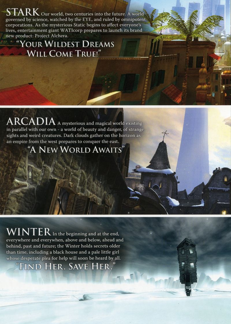 Dreamfall: The Longest Journey Windows Inside Cover Left Flap