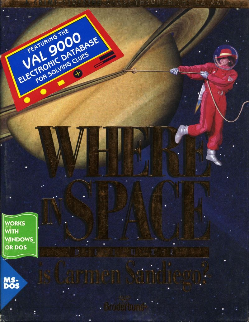 Where in Space Is Carmen Sandiego? (Deluxe Edition) DOS Front Cover