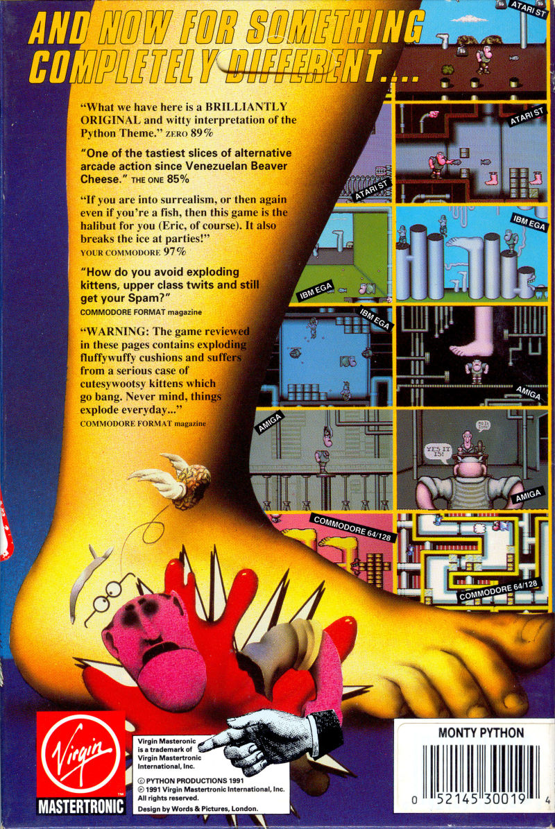 Monty Python's Flying Circus Amiga Back Cover