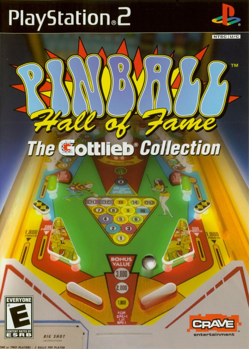 Pinball Hall of Fame: The Gottlieb Collection PlayStation 2 Front Cover