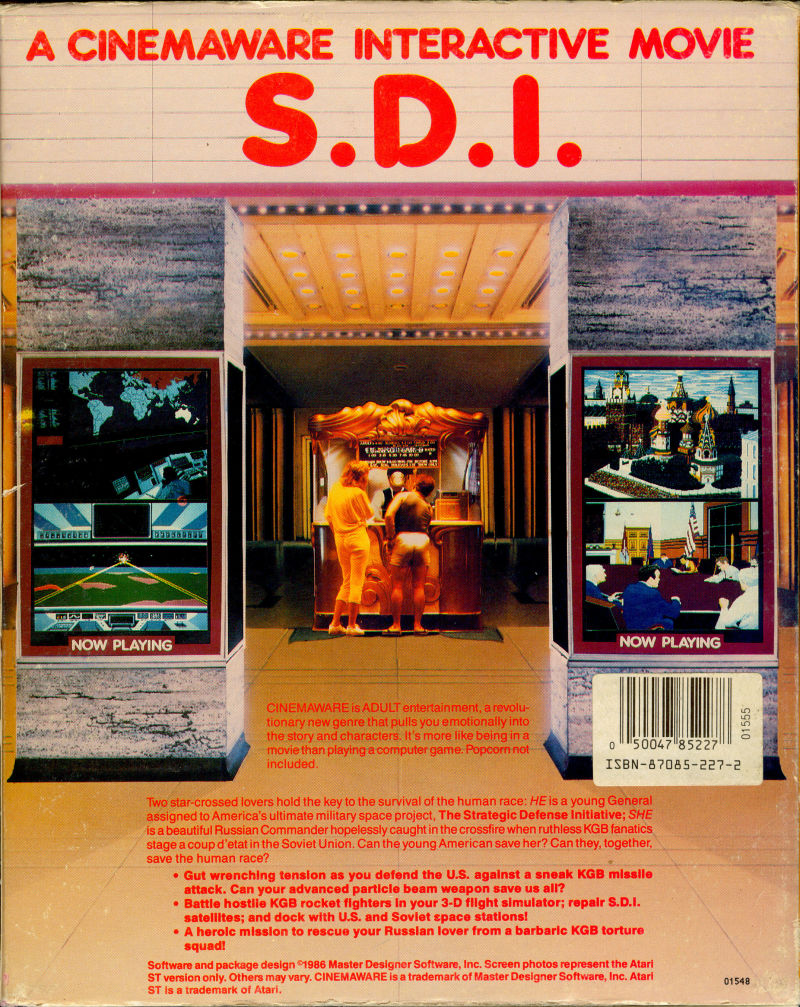 S.D.I. Amiga Back Cover