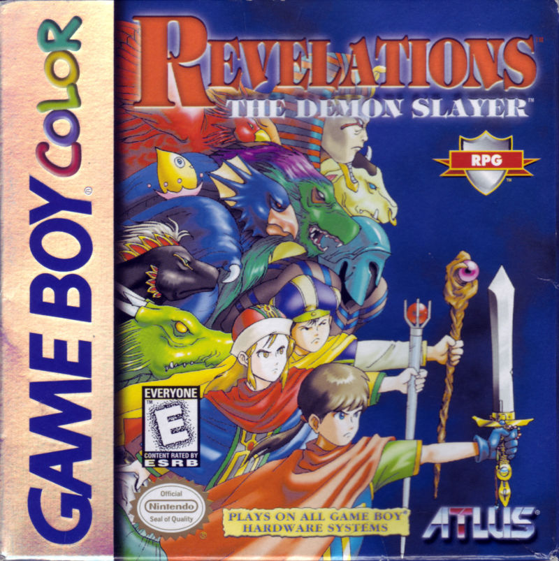 Revelations: The Demon Slayer Game Boy Color Front Cover
