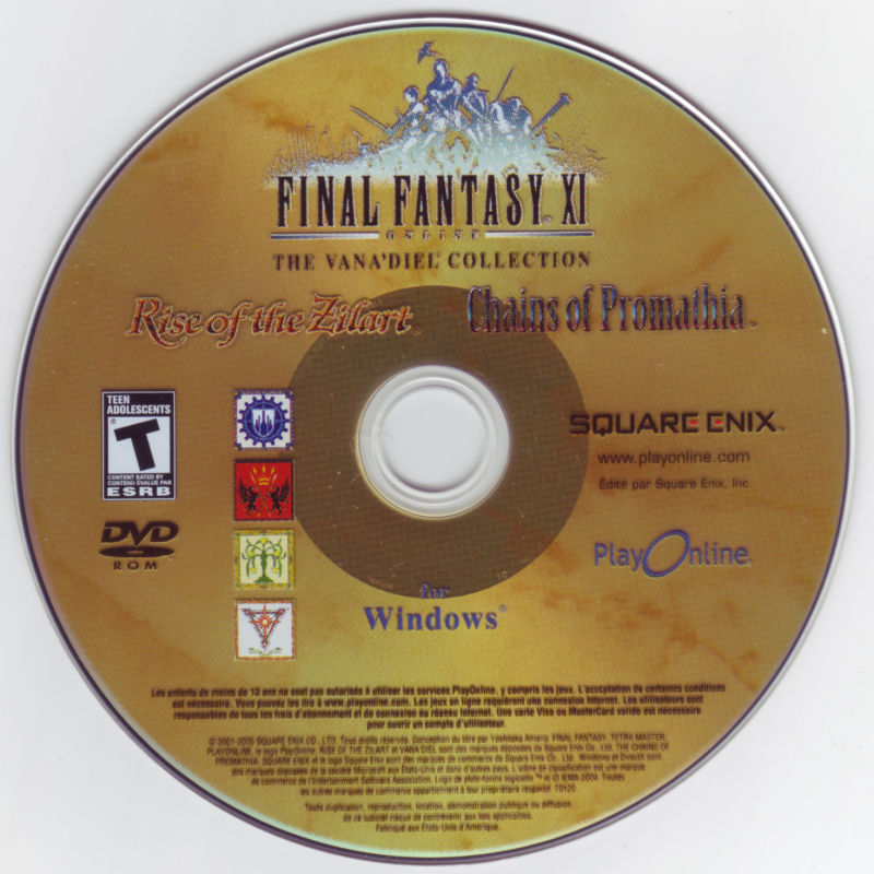 Final Fantasy XI Online: The Vana'Diel Collection Windows Media