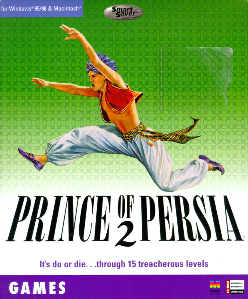 Prince of Persia 2: The Shadow & The Flame DOS Front Cover