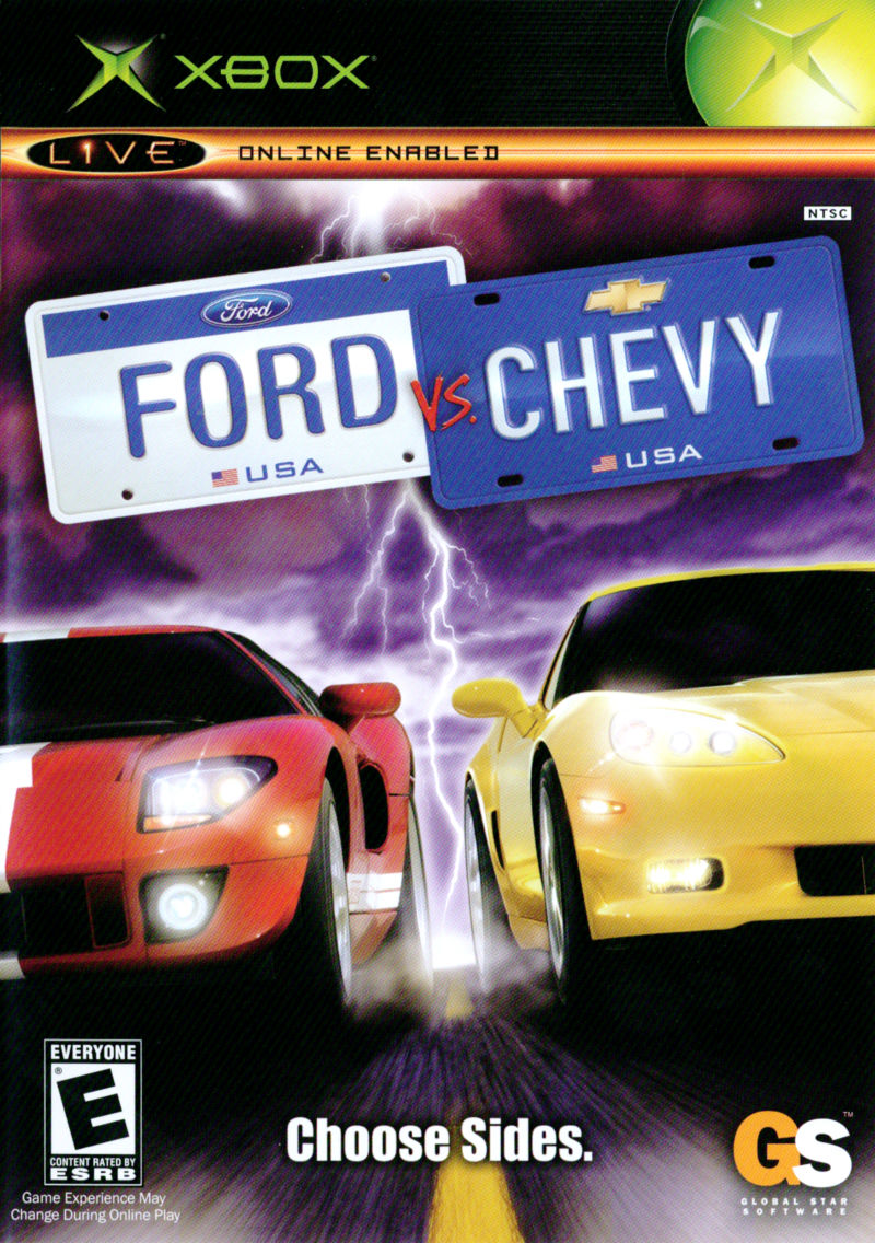 ford  chevy  xbox box cover art mobygames
