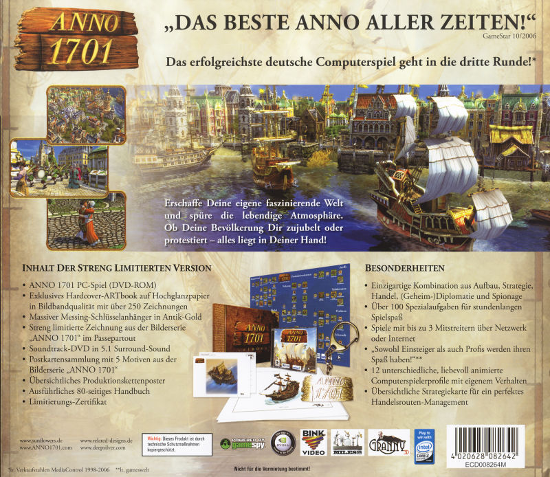 Anno 1701 (Limited Edition) Windows Other Jewel Case - Back