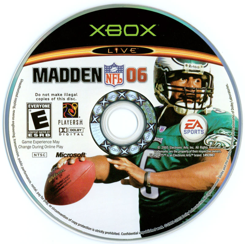 Madden NFL 06 Xbox Media