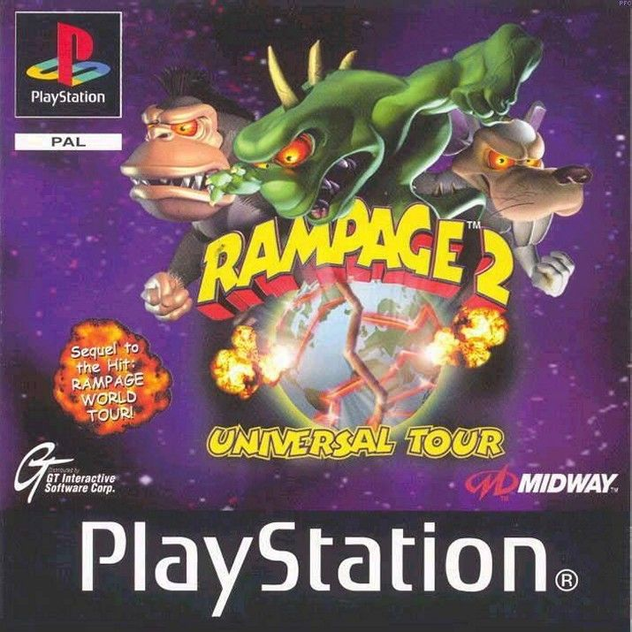 Rampage 2: Universal Tour PlayStation Front Cover