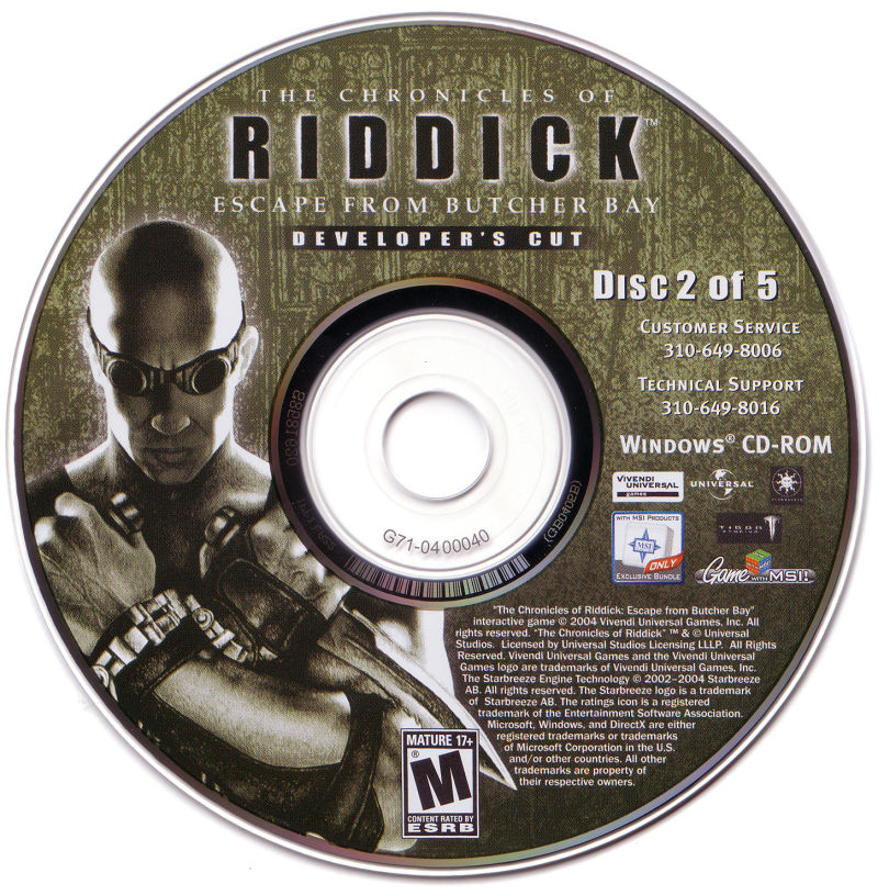 The Chronicles of Riddick: Escape from Butcher Bay Windows Media Disc 2/5