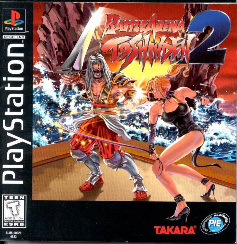 Battle Arena Toshinden 2 PlayStation Front Cover
