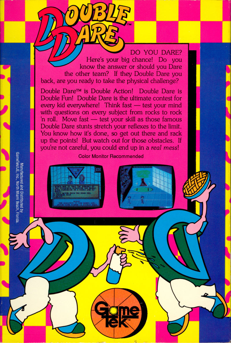 Double Dare Commodore 64 Back Cover