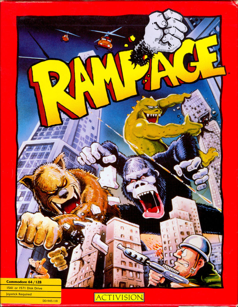 Rampage For Commodore 64 1987 Mobygames