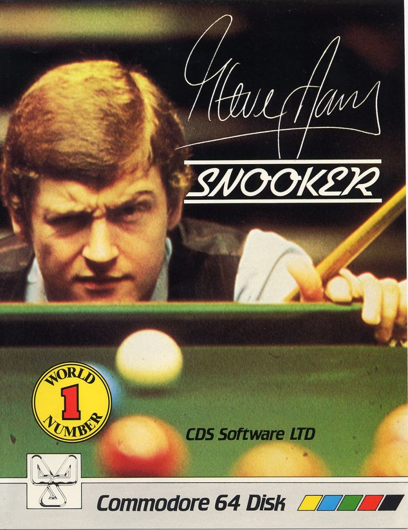 Steve Davis Snooker Commodore 64 Front Cover