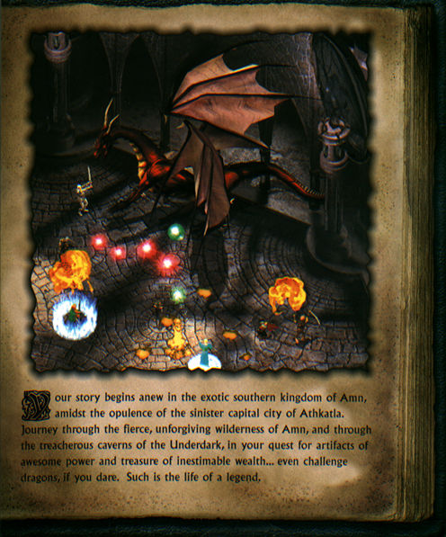 Baldur's Gate II: Shadows of Amn Windows Inside Cover Right Flap