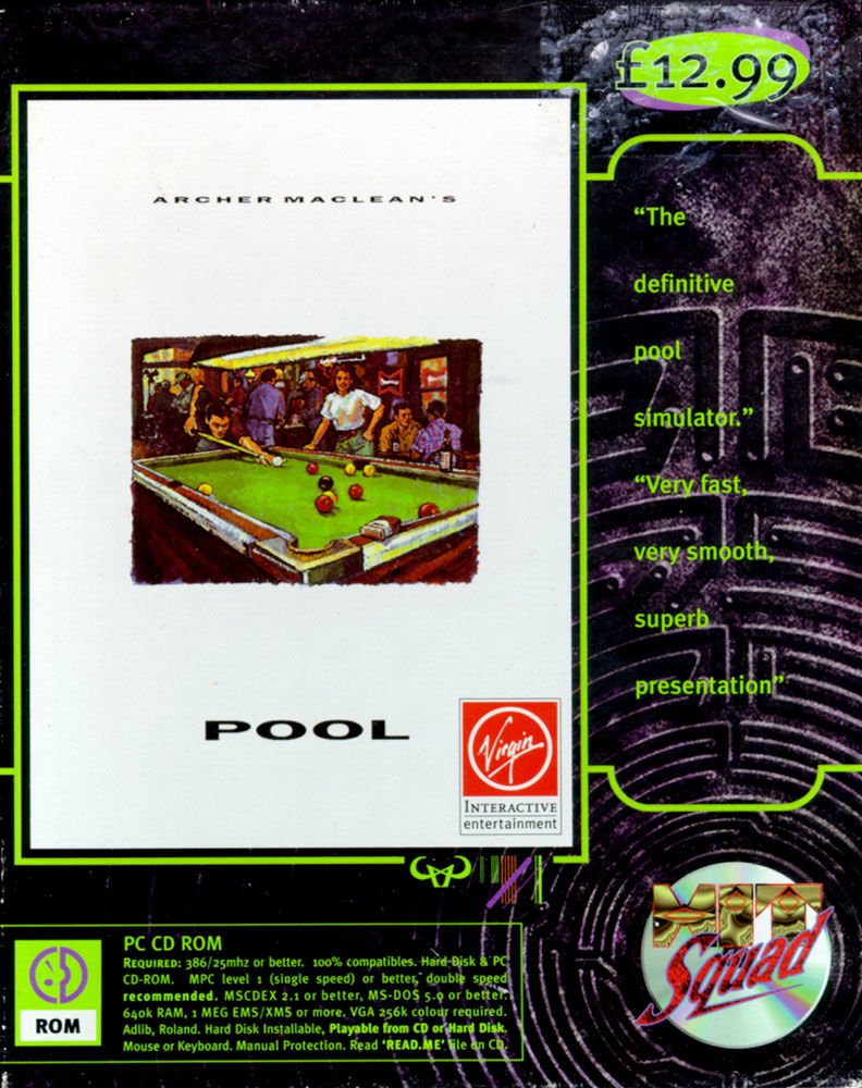 Archer Maclean's Pool DOS Front Cover