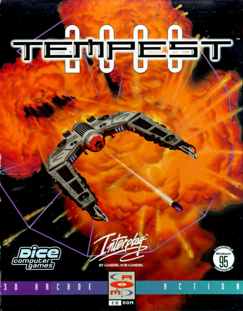 Tempest 2000 DOS Front Cover