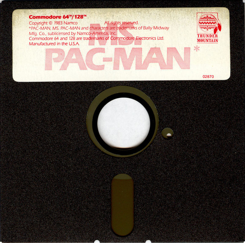 Ms. Pac-Man Commodore 64 Media