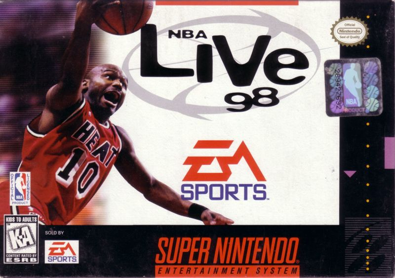 NBA Live 98 SNES Front Cover
