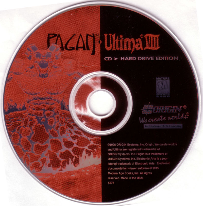 Pagan: Ultima VIII: Gold Edition DOS Media