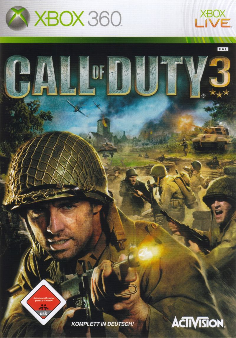 Call of Duty 3 Xbox 360 Front Cover